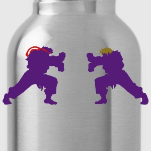 Ryu and Ken Hadouken Silhouettes T-Shirts - Water Bottle