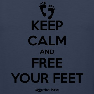 Keep Calm and Free Your Feet T-Shirts - Men's Premium Tank