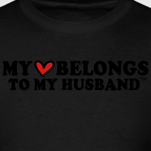 MY HEART BELONGS TO MY HUSBAND Hoodies - Men's T-Shirt