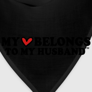 MY HEART BELONGS TO MY HUSBAND Hoodies - Bandana