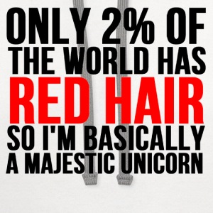 RED HAIR MAJESTIC UNICORN - Contrast Hoodie