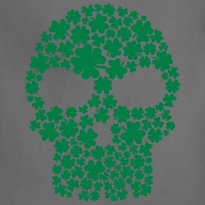Shamrock skull Women's T-Shirts - Adjustable Apron