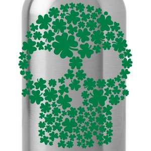 Shamrock skull Women's T-Shirts - Water Bottle