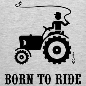 Born To Ride (Tractor) T-Shirt - Men's Premium Tank