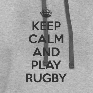 keep calm and play rugby T-Shirts - Contrast Hoodie