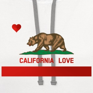California Love State Flag Womens Standard T-shirt - Contrast Hoodie