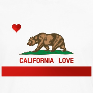 California Love State Flag Womens Standard T-shirt - Men's Premium Long Sleeve T-Shirt