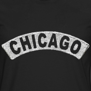 Throwback Chicago Arch Hoodies - Men's Premium Long Sleeve T-Shirt