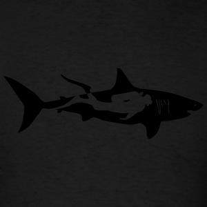 shark scuba diver diving whale dolphin manta Long Sleeve Shirts - Men's T-Shirt