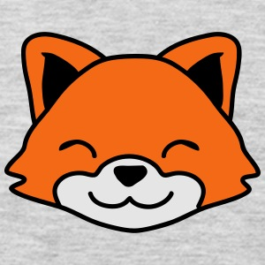 Cute Little Fox Child Face T-Shirts - Men's Premium Long Sleeve T-Shirt