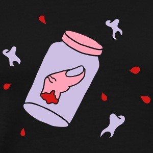 halloween teeth bloody finger torture horror mafia T-Shirts - Men's Premium T-Shirt