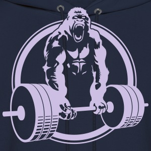 Funny Gym Shirt - Gorilla Lifting Men's Standard Tee - Men's Hoodie