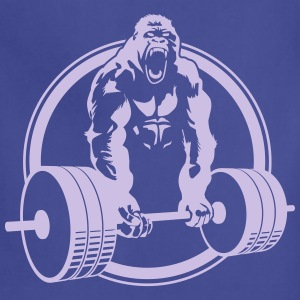 Funny Gym Shirt - Gorilla Lifting Men's Standard Tee - Adjustable Apron