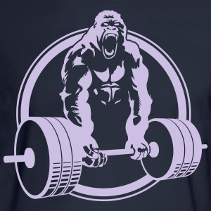 Funny Gym Shirt - Gorilla Lifting Men's Standard Tee - Men's Long Sleeve T-Shirt