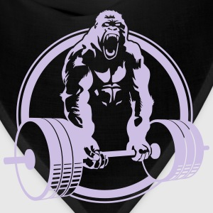 Funny Gym Shirt - Gorilla Lifting Men's Standard Tee - Bandana