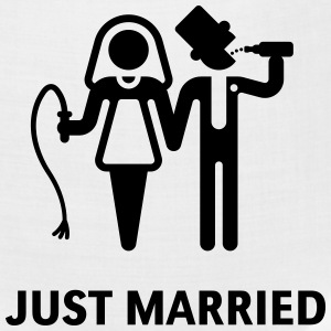 Just Married (Whip and Beer) Women's T-Shirts - Bandana