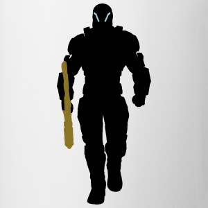 Human Soldier Silhouette2 T-Shirts - Coffee/Tea Mug