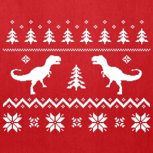 Ugly T-Rex Dinosaur Christmas Sweater T-Shirts - Tote Bag