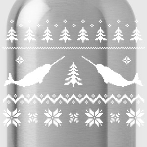 Ugly Narwhal Christmas Sweater T-Shirts - Water Bottle