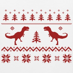 Ugly T-Rex Dinosaur Christmas Sweater T-Shirts - Men's Premium Tank