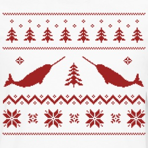 Ugly Narwhal Christmas Sweater T-Shirts - Men's Premium Long Sleeve T-Shirt