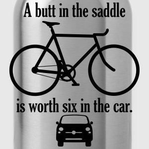 A butt in the saddle - Water Bottle