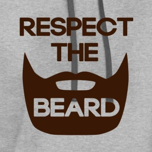 Respect The Beard T-Shirts - Contrast Hoodie