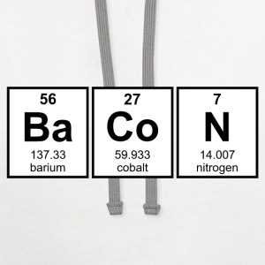 Bacon Periodic Table Element Symbols T-Shirts - Contrast Hoodie