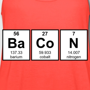 Bacon Periodic Table Element Symbols T-Shirts - Women's Flowy Tank Top by Bella