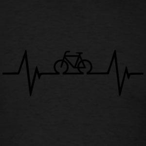Bicycle Hearbeat Hoodies - Men's T-Shirt