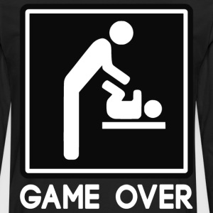 Game Over New Baby for Parent Dad T-Shirts - Men's Premium Long Sleeve T-Shirt