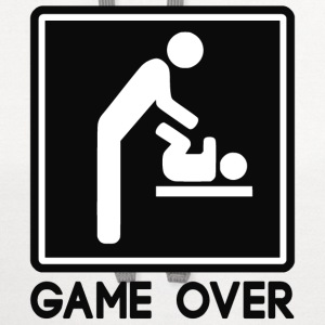 Game Over New Baby for Parent Dad - Contrast Hoodie