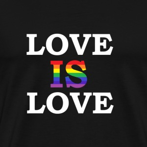 LOVE IS LOVE hoodie - Men's Premium T-Shirt