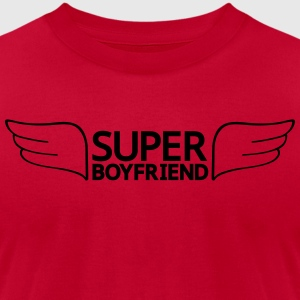 Super Boyfriend Hoodies - Men's T-Shirt by American Apparel