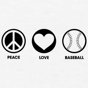 Peace Love Baseball Accessories - Men's T-Shirt