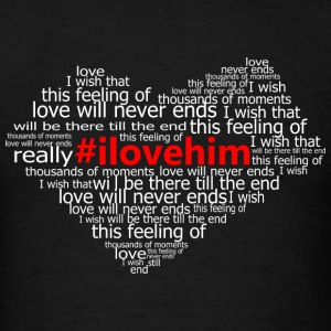 #ilovehim Hoodies - Men's T-Shirt