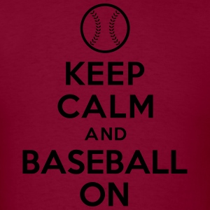 Keep calm and Baseball on Hoodies - Men's T-Shirt