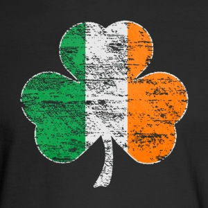 Vintage Irish Flag Shamrock Womens Premium T-shirt - Men's Long Sleeve T-Shirt