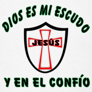 Cell Cover / Dios es mi escudo - Men's T-Shirt