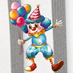 clown with balloons - Contrast Hoodie