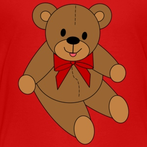 Teddy Bear - Red Bow - Toddler Premium T-Shirt