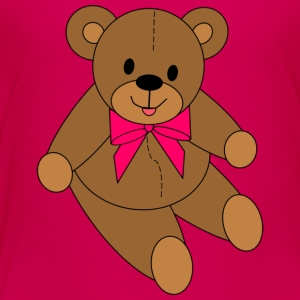 Teddy Bear - Pink Bow - Toddler Premium T-Shirt