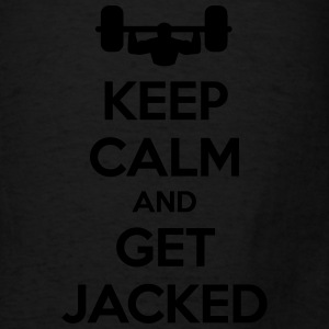 Keep Calm Get Jacked Bags & backpacks - Men's T-Shirt