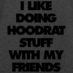 i like doing hood at stuff with my friends - Men's V-Neck T-Shirt by Canvas
