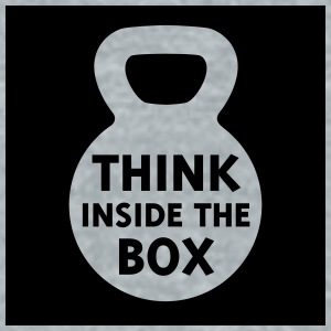 Think Inside the Box Water Bottle - Unisex Tri-Blend T-Shirt by American Apparel