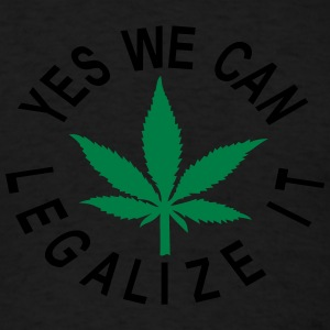 3xl-4xl hooded sweatshirt yes we can legalize it - Men's T-Shirt
