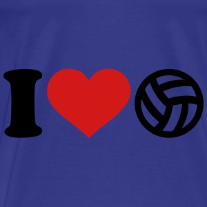 I love Volleyball Bags & backpacks - Men's Premium T-Shirt