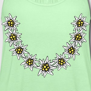 Edelweiss necklace Bavaria Bayern Alps Alpine flow - Women's Flowy Tank Top by Bella