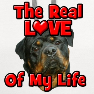 Rottweiler, The Real Love Of My Life T-Shirts - Contrast Hoodie