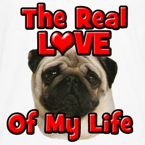 Pug, The Real Love Of My Life Hoodies - Men's Premium Long Sleeve T-Shirt